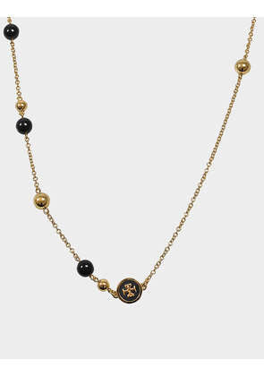 Tory Burch Raised logo Rosary necklace