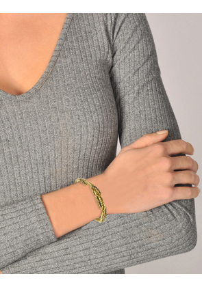 Wheat Mutli Cobs Bracelet in 18K Gold-Plated Brass Aur OIfYaPp59