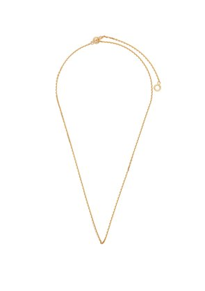 Polished gold-plated string necklace