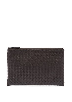 Intrecciato small leather pouch