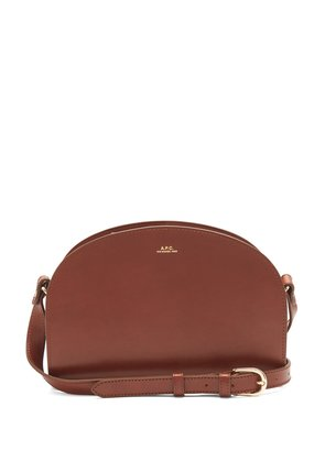 Half Moon leather cross-body bag