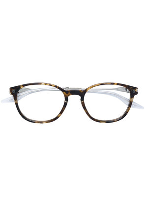 Snob clip-shade rounded glasses - Brown