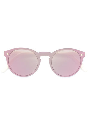 Snob rounded rose-colored sunglasses - Nude & Neutrals