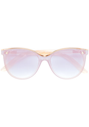 Snob rounded lightly tinted sunglasses - Nude & Neutrals