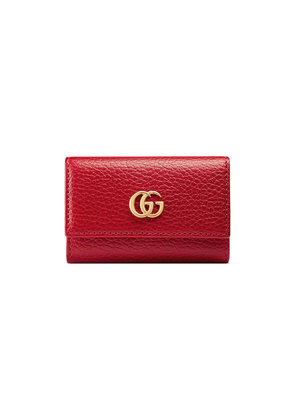 Gucci GG Marmont leather key case - Red