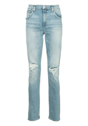 Agolde distressed straight-leg jeans - Blue