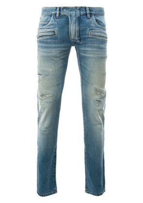 Balmain ripped skinny jeans - Blue