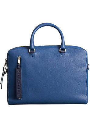 Burberry Grainy Leather Briefcase - Blue