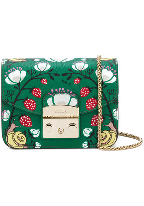 Furla Metropolis strawberry print crossbody bag - Green
