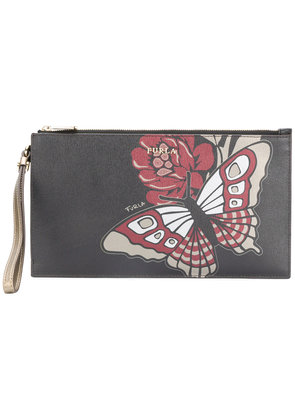 Furla Babylon XL envelope clutch - Black