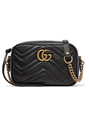 Gucci - Gg Marmont Camera Mini Quilted Leather Shoulder Bag - Black