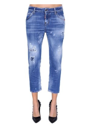 COOL GIRL CROPPED DESTROYED DENIM JEANS