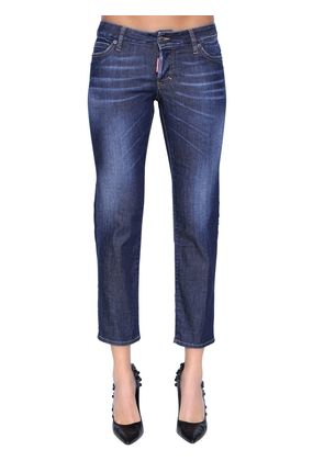 JENNIFER CROPPED DENIM JEANS