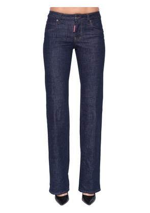 LAUREN MID RISE COTTON DENIM JEANS