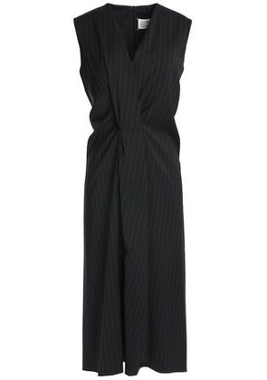 Maison Margiela Woman Satin-jacquard Wrap Maxi Dress Black Size 40 Maison Martin Margiela vz5bNi6l2c