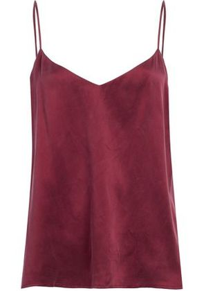 L'agence Woman Washed-silk Camisole Claret Size XS