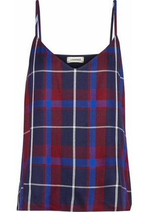 L'agence Woman Jane Checked Twill Camisole Multicolor Size XS