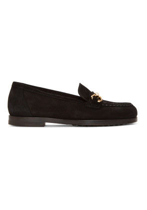 A.P.C. Black Daisy Loafers