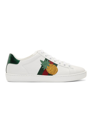 Gucci White Pineapple Ace Sneakers