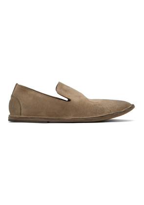 Marsèll Brown Suede Strasacco Loafers