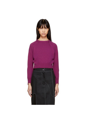 Helmut Lang Pink Cropped Cashmere Sweater