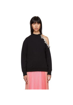 Christopher Kane Black DNA Crystal Cut-Out Sweatshirt