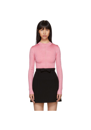 Christopher Kane Pink Brillo Pad Iridescent Sweater