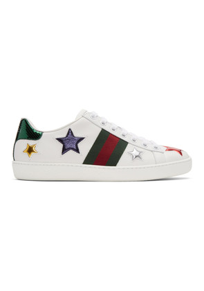 Gucci White Stars Ace Sneakers