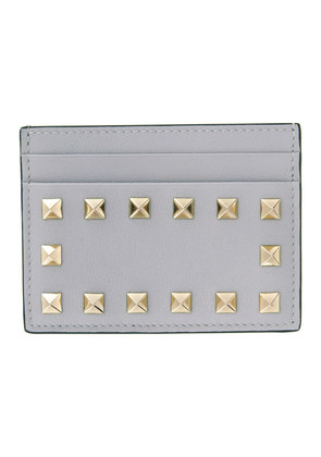 Valentino Grey Valentino Garavani Rockstud Card Holder