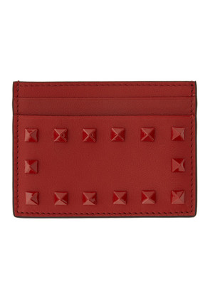 Valentino Red Valentino Garavani Tonal Rockstud Card Holder