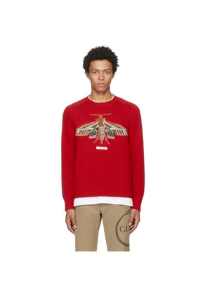 Gucci Red Gucci Garden 'Anger Forest' Moth Sweater