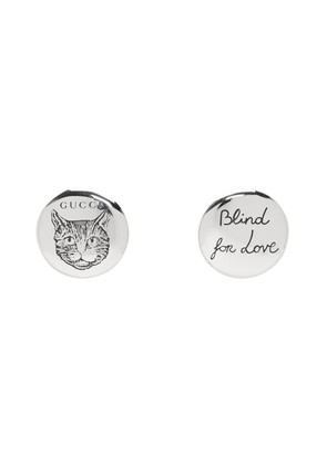 Gucci Silver 'Blind For Love' Earrings
