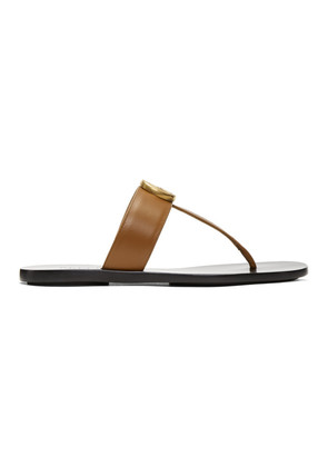 Gucci Tan GG Marmont Sandals