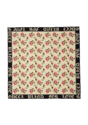 Gucci Ivory SIlk 'Blind For Love' Scarf