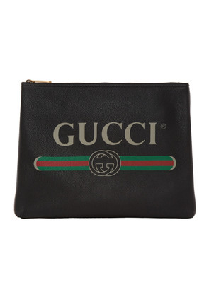 Gucci Black Medium Logo Pouch