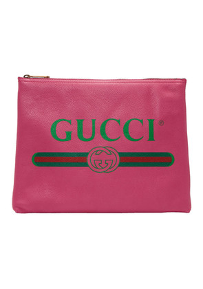 Gucci Pink Medium Fake Gucci Pouch