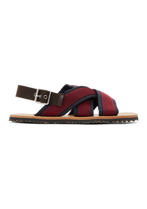 Marni Navy & Burgundy Nastro Sandals