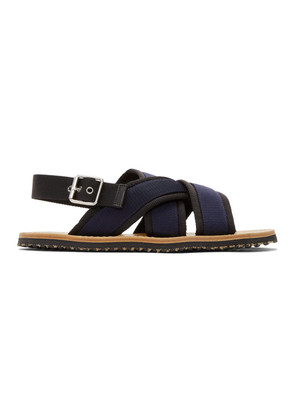 Marni Navy & Black Nastro Sandals