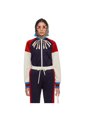 Gucci Blue 'Guccify Yourself' Bow Logo Track Jacket