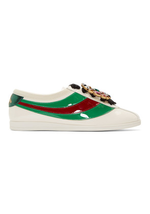 Gucci Ivory Falacer Bowling Sneakers