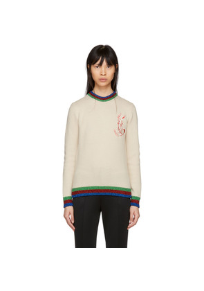 Gucci Off-White Rabbit Patch Sweater