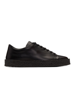 Jil Sander Black Leather Sneakers