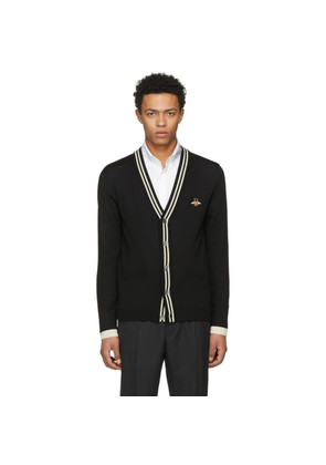 Gucci Black Embroidered Bee Patch Cardigan