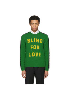 Gucci Green 'Blind For Love' Kingsnake Sweater