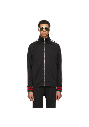 Gucci Black Logo Zip-Up Track Jacket