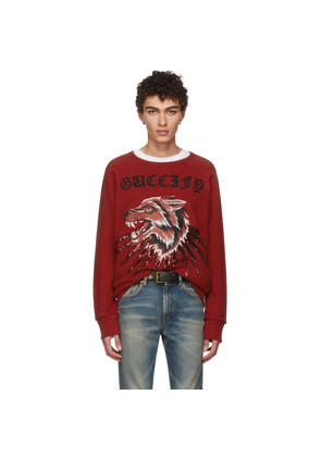 Gucci Red Wolf & Rays Sweatshirt