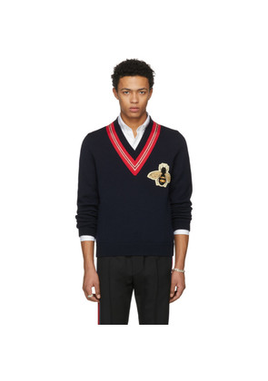 Gucci Navy Bee Sweater