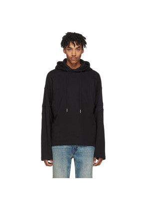 Helmut Lang Black Distorted Arm Hoodie