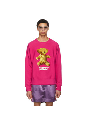 Gucci Pink 'Guccy' Teddy Bear Sweatshirt