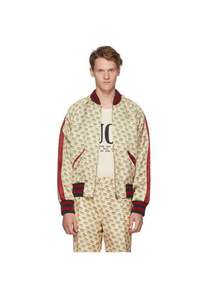 Gucci Off-White All Over Logo Bomber Jacket
